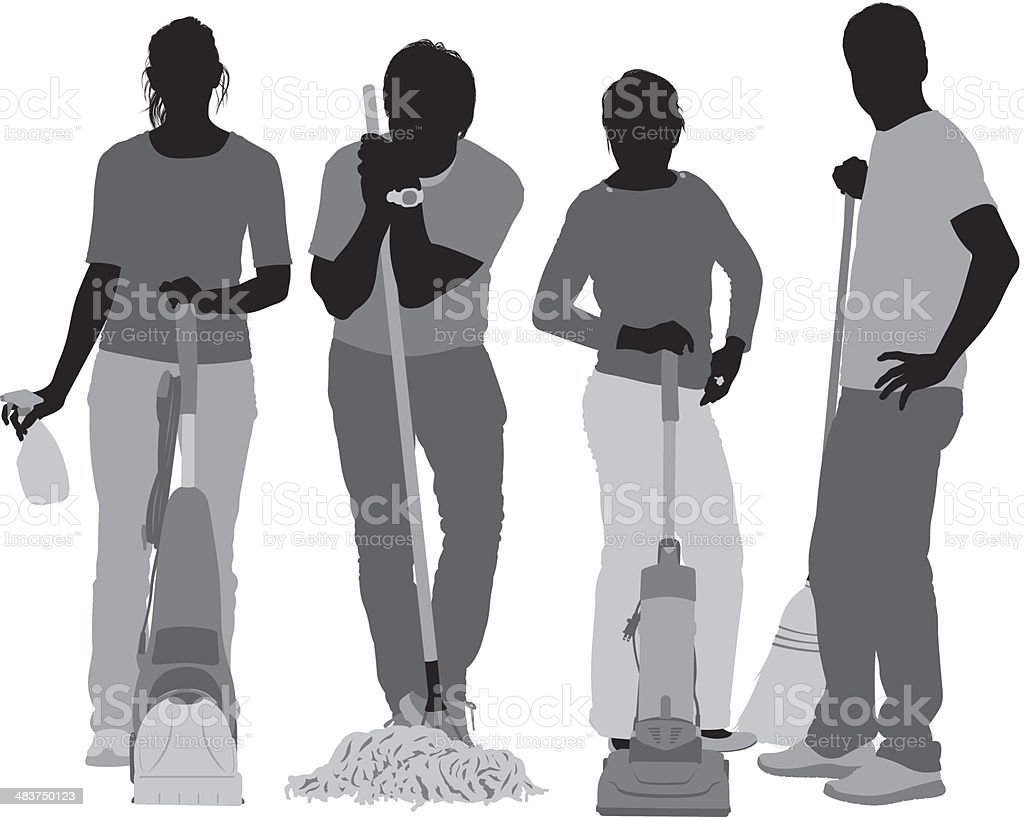 Cleaners royalty-free stock vector art