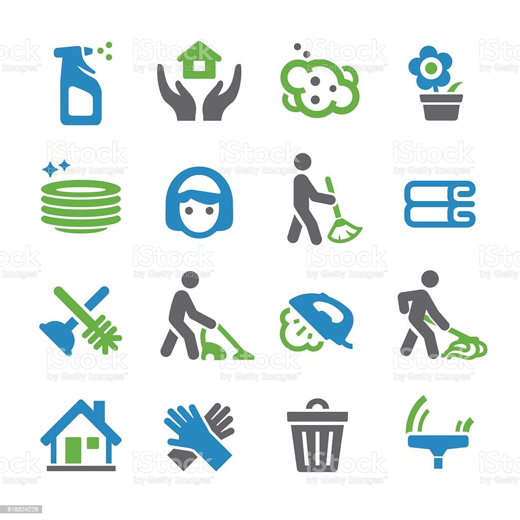 Cleaning Icons - Spry Series vector art illustration