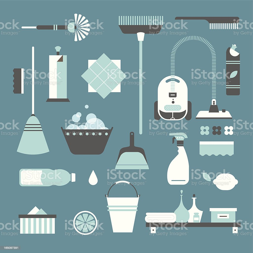 Cleaning icons royalty-free stock vector art