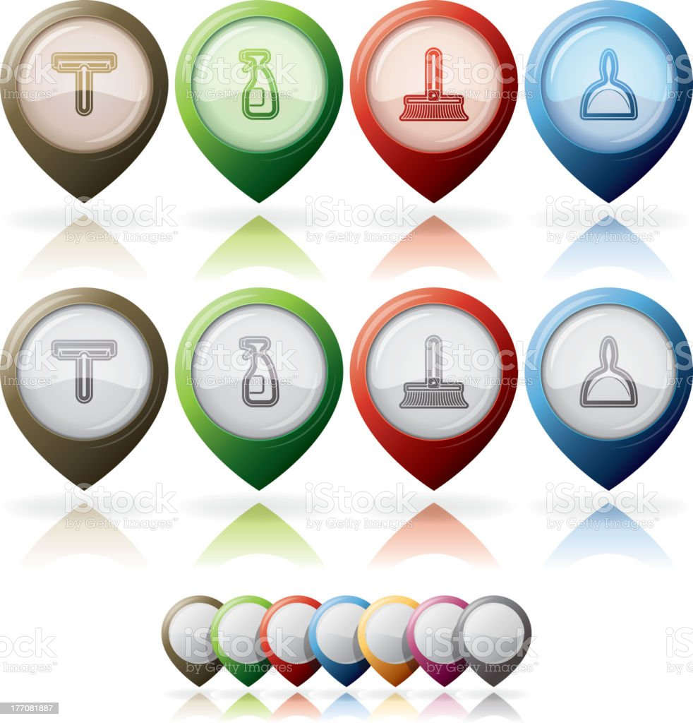 Cleaning Items royalty-free stock vector art