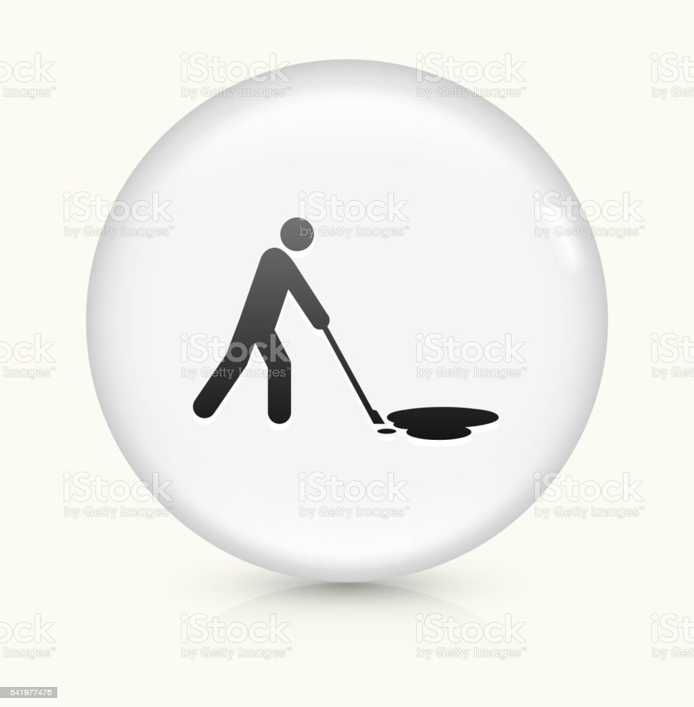 Cleaning Oil Spill icon on white round vector button vector art illustration