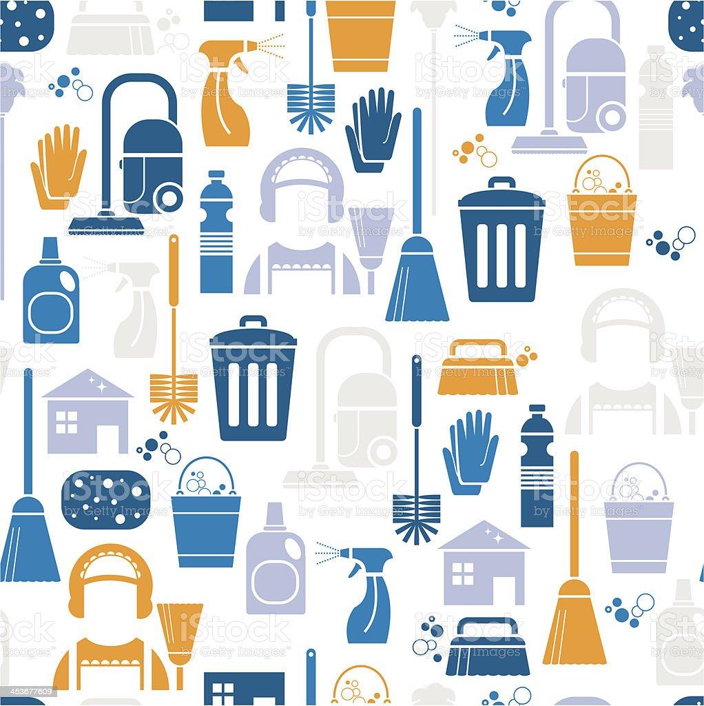 Cleaning Pattern vector art illustration