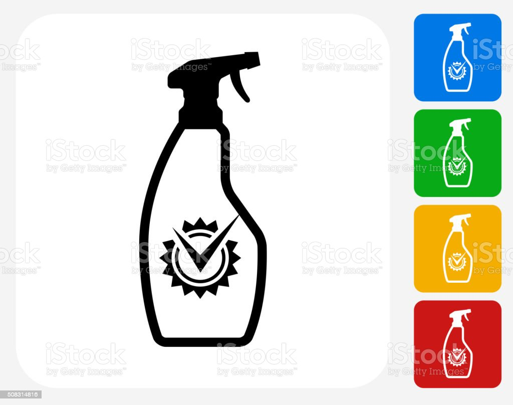 Cleaning Products Icon Flat Graphic Design vector art illustration
