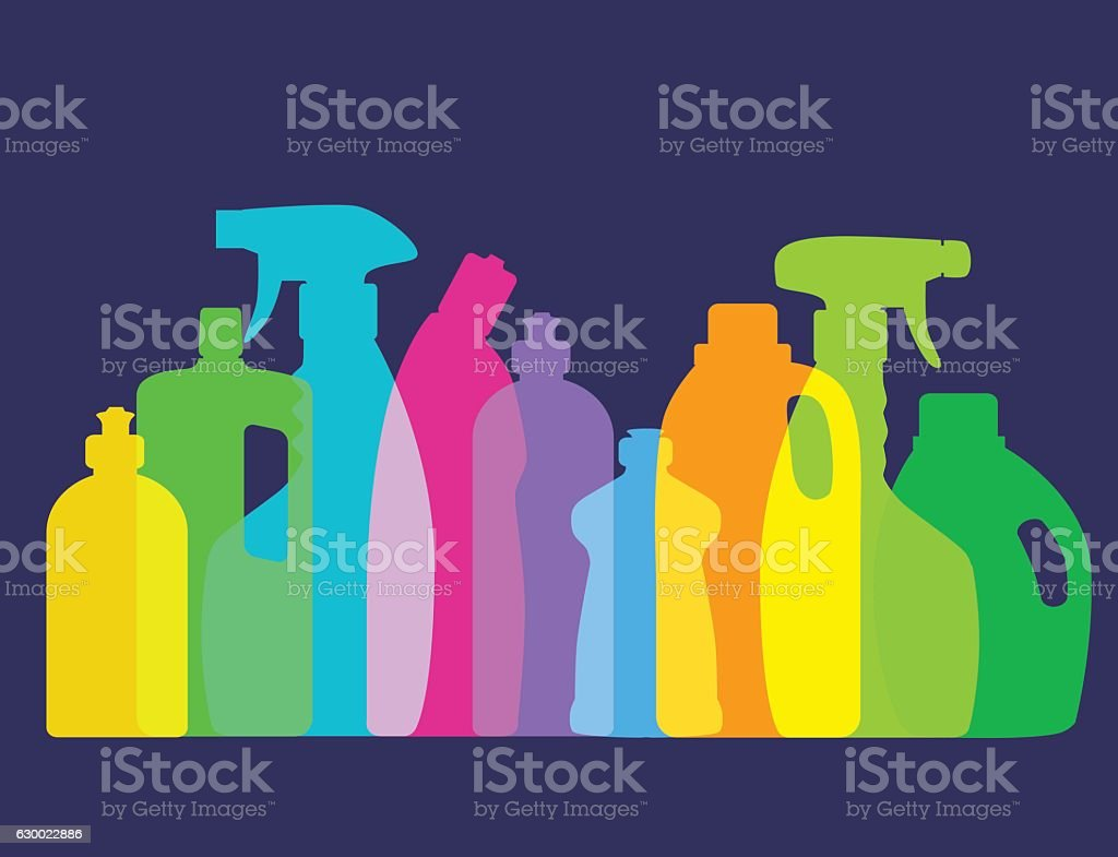 Cleaning Products vector art illustration