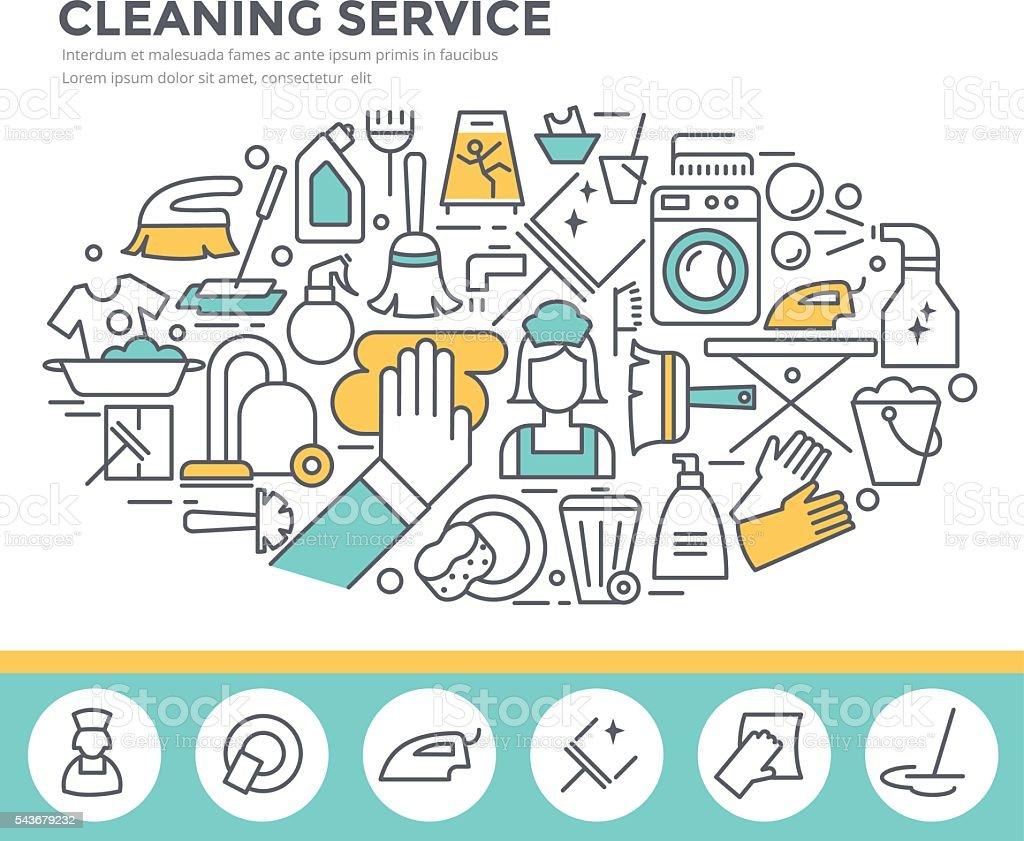 Cleaning service concept illustration. vector art illustration