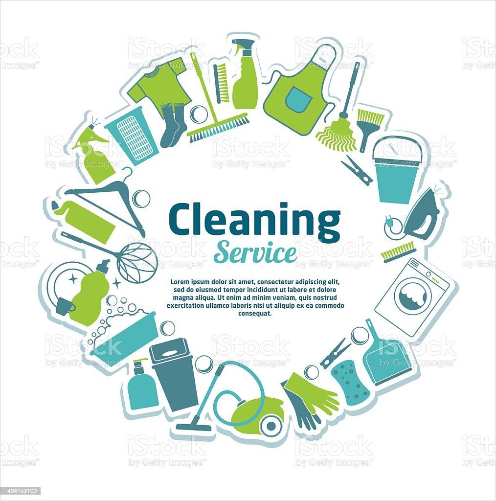 Cleaning service illustration. vector art illustration