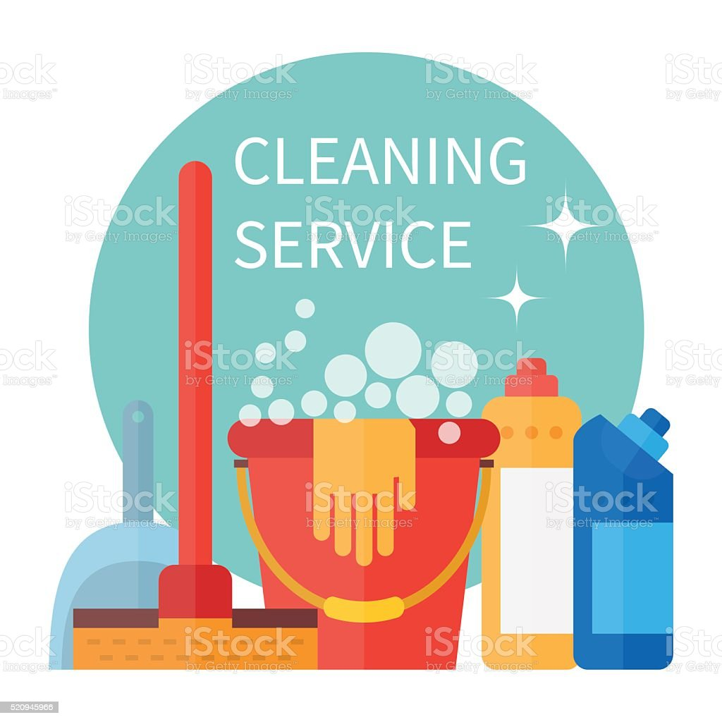 Cleaning service vector vector art illustration