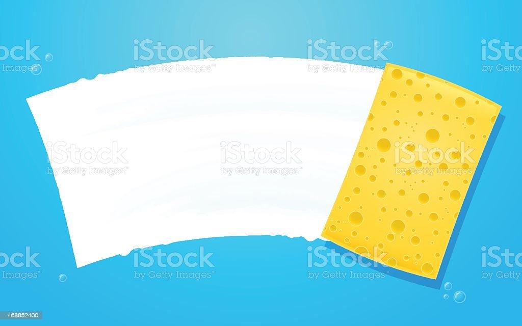 Cleaning Sponge vector art illustration
