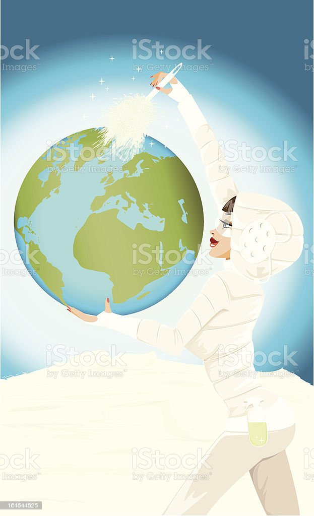 Cleaning The Planet royalty-free stock vector art