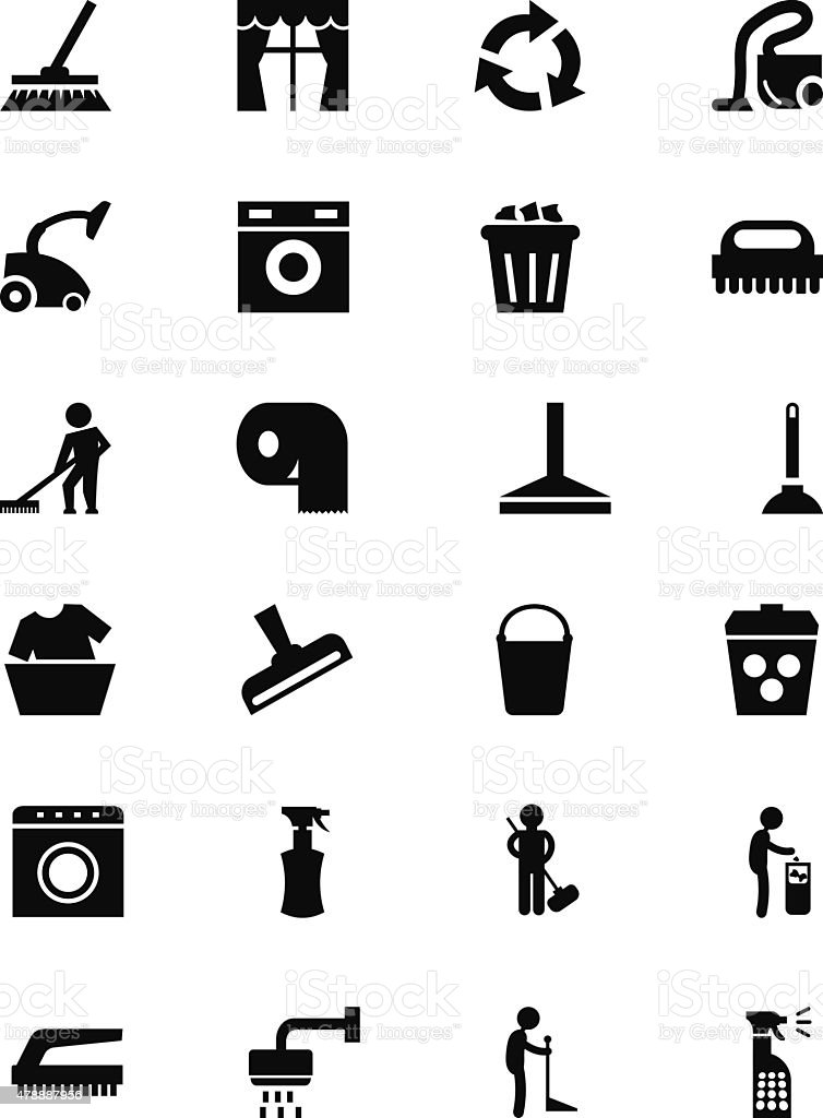 Cleaning Vector Icons 1 vector art illustration