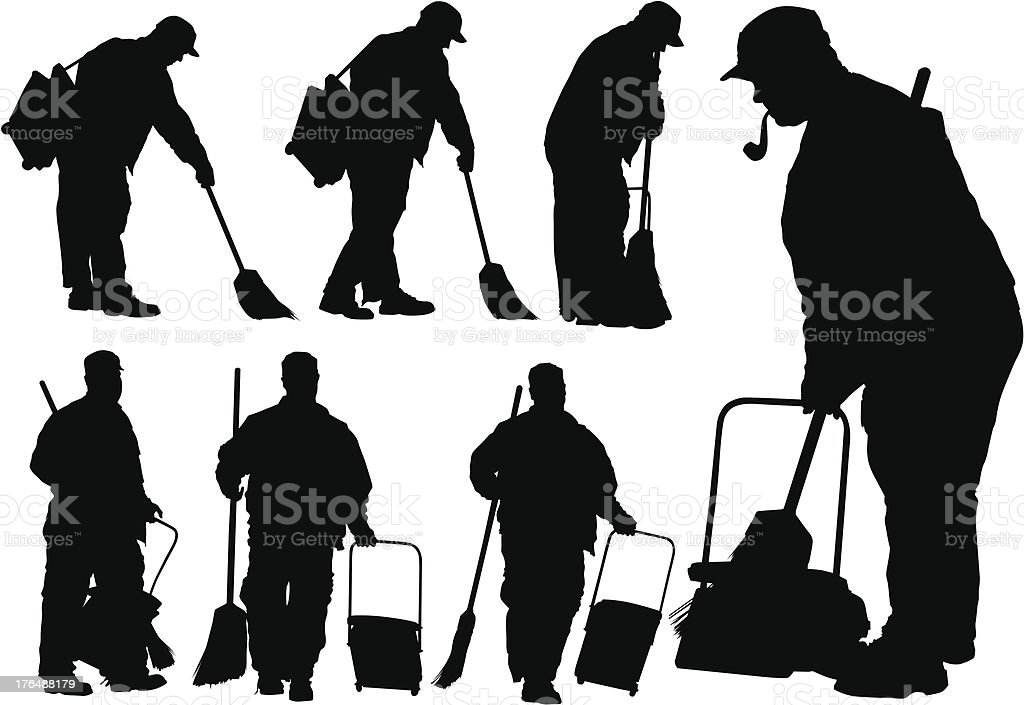 Cleanup men royalty-free stock vector art