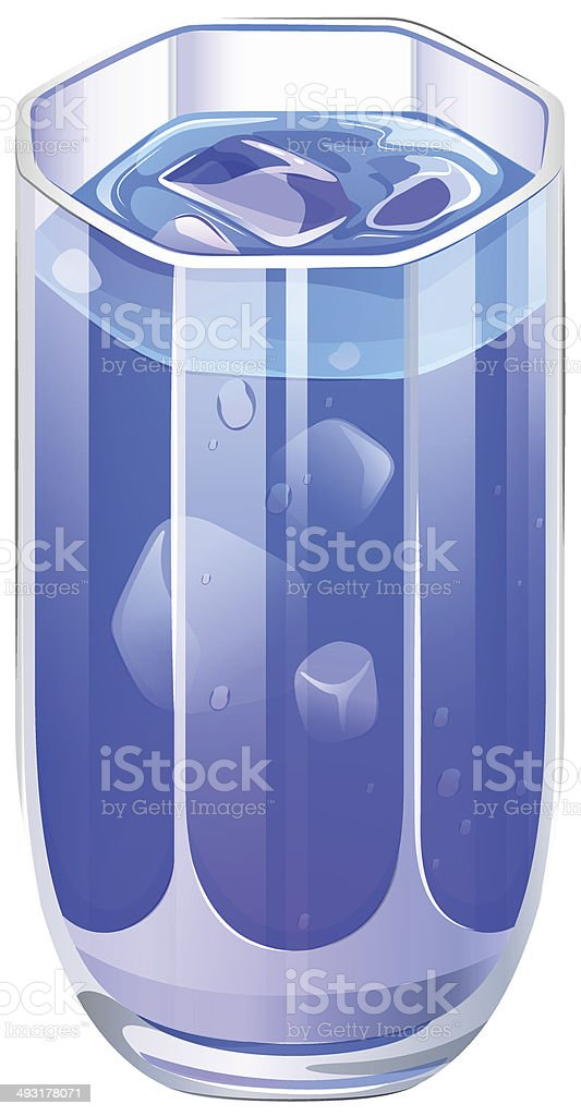 Clear drinking glass with cocktail royalty-free stock vector art