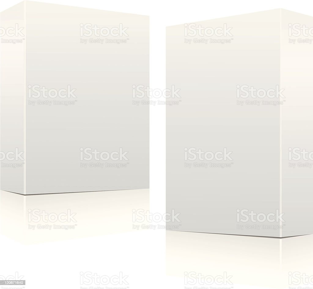 Clear white boxes vector art illustration