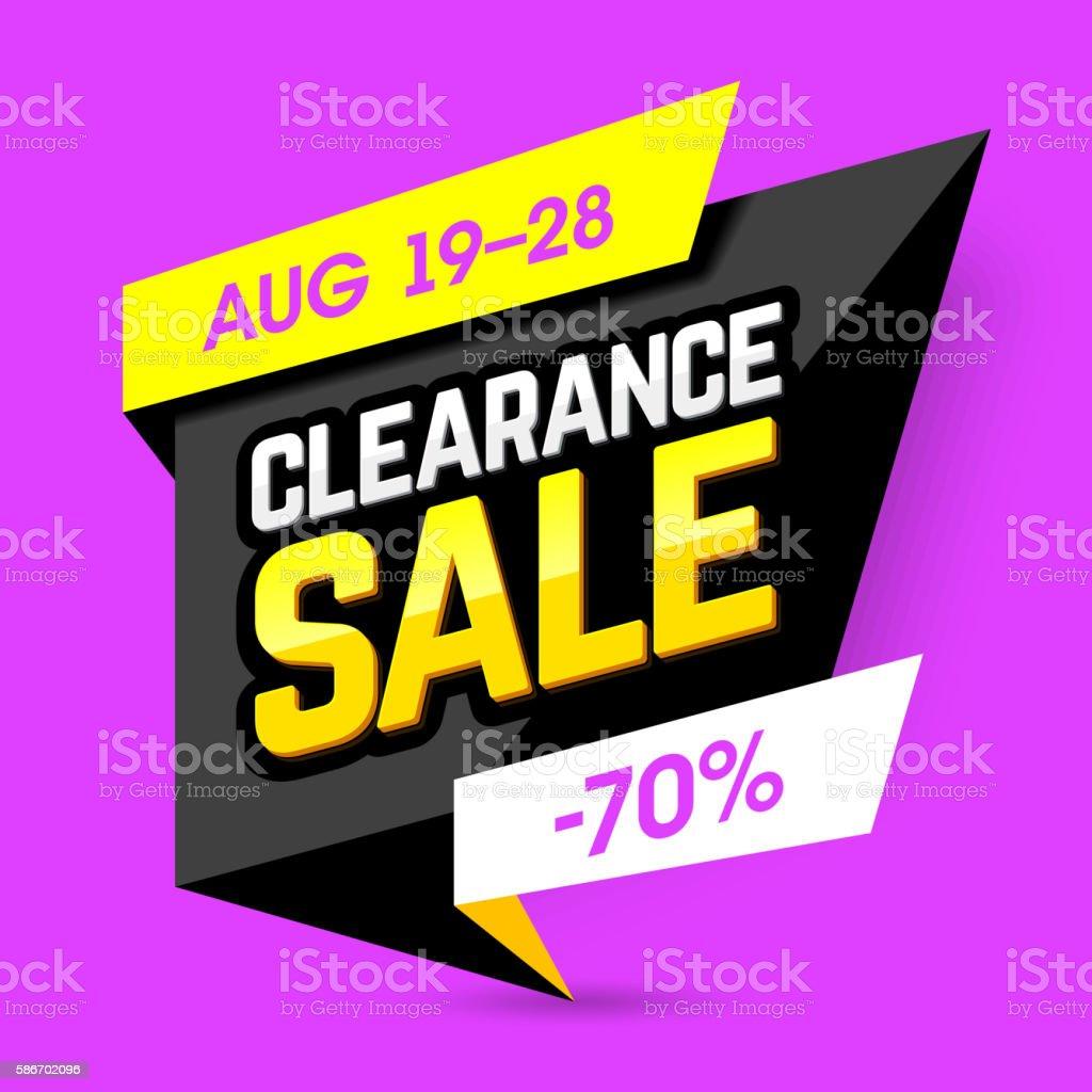 Clearance Sale banner vector art illustration