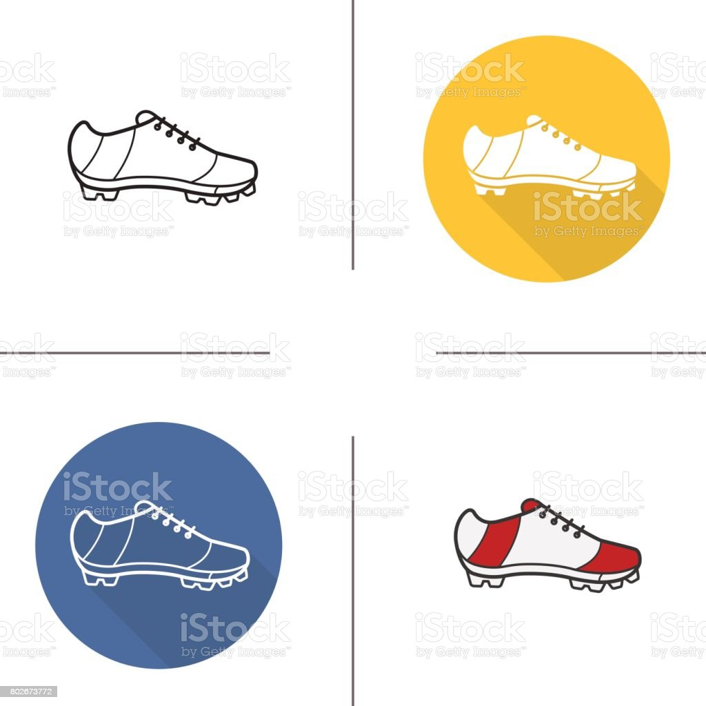 Cleat icons vector art illustration