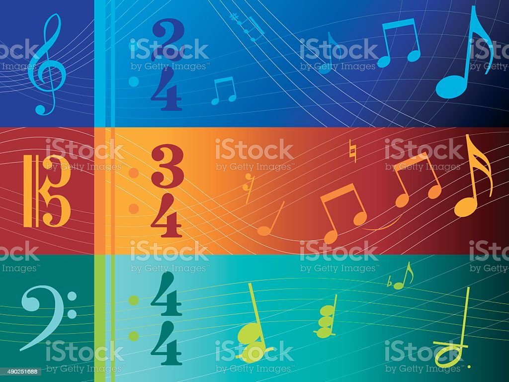 Clef Banners vector art illustration