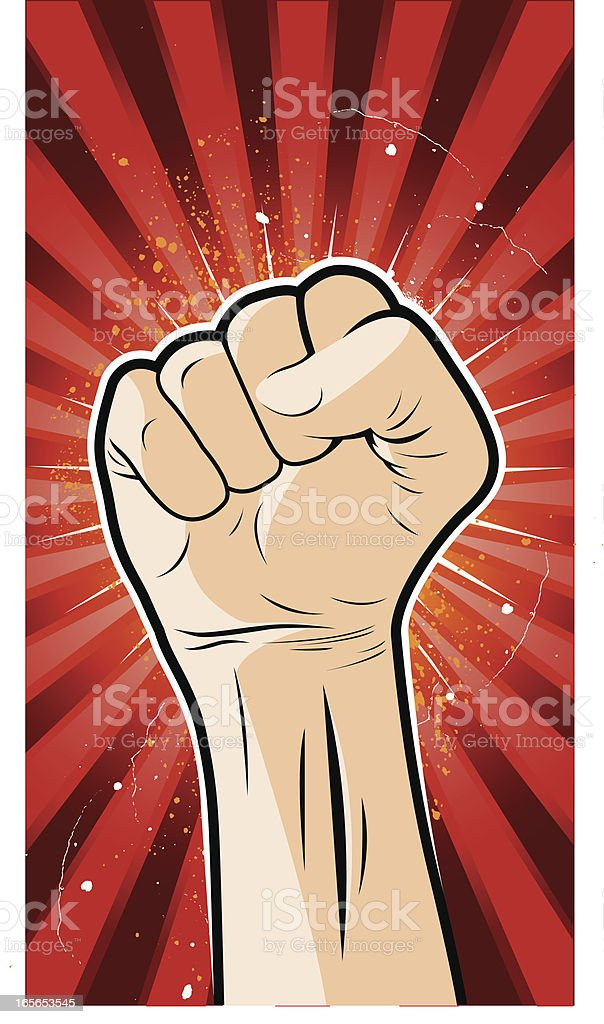 Clenched fist poster royalty-free stock vector art