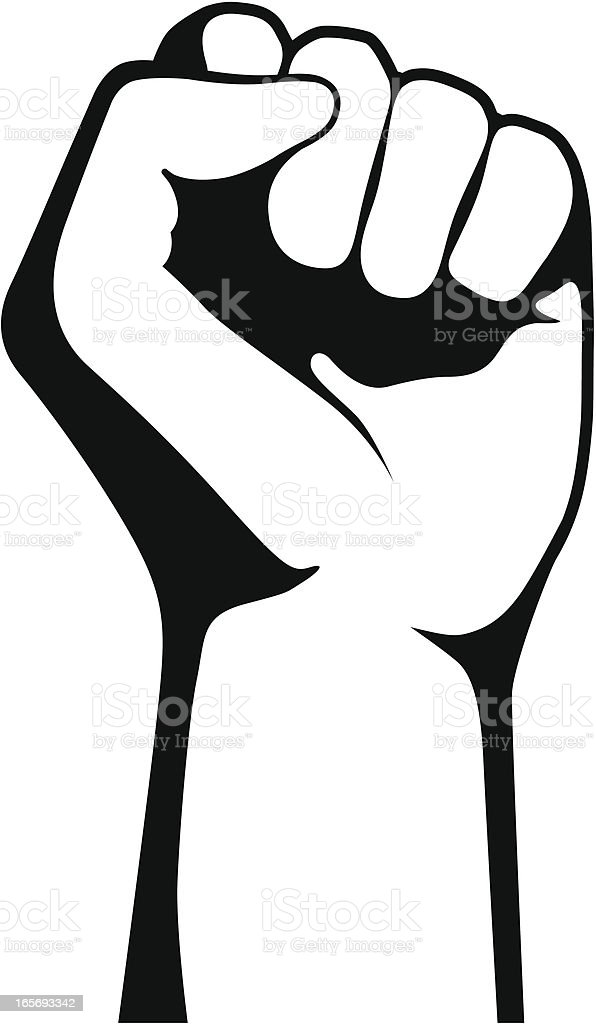 Clenched Fist vector art illustration