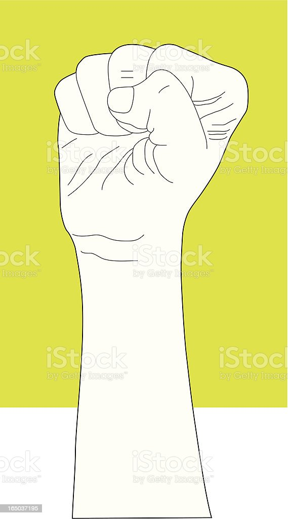 Clenching Fist Hand Gesture royalty-free stock vector art