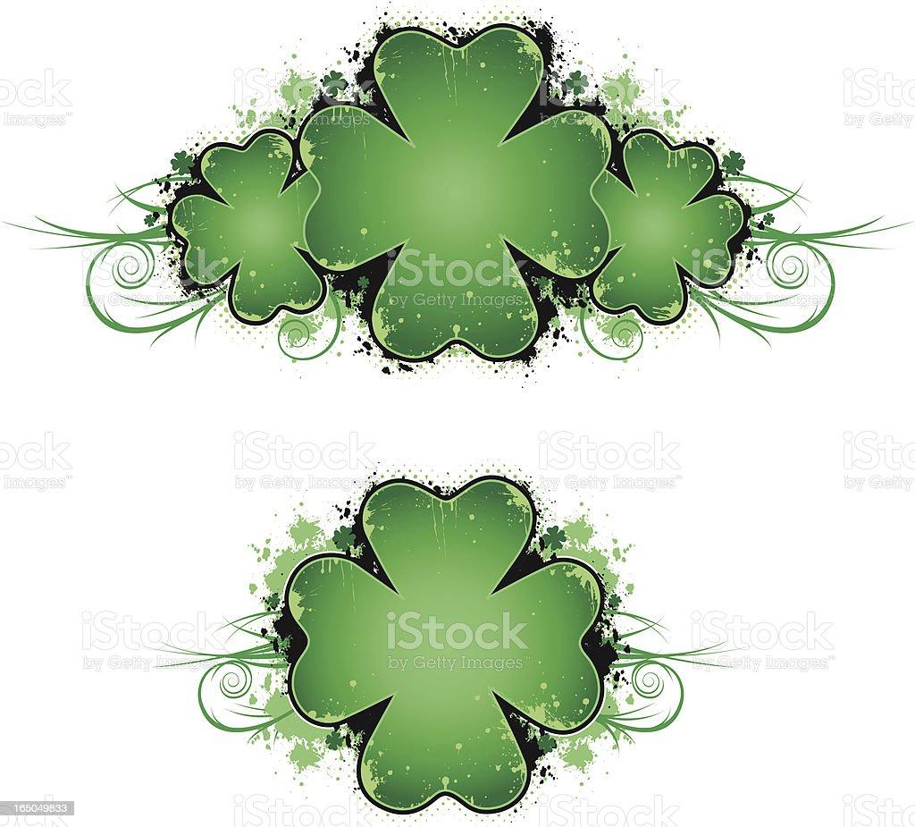 clever clover vector art illustration