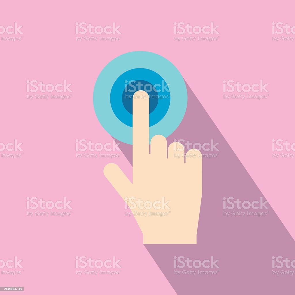 Click hand flat icon vector art illustration