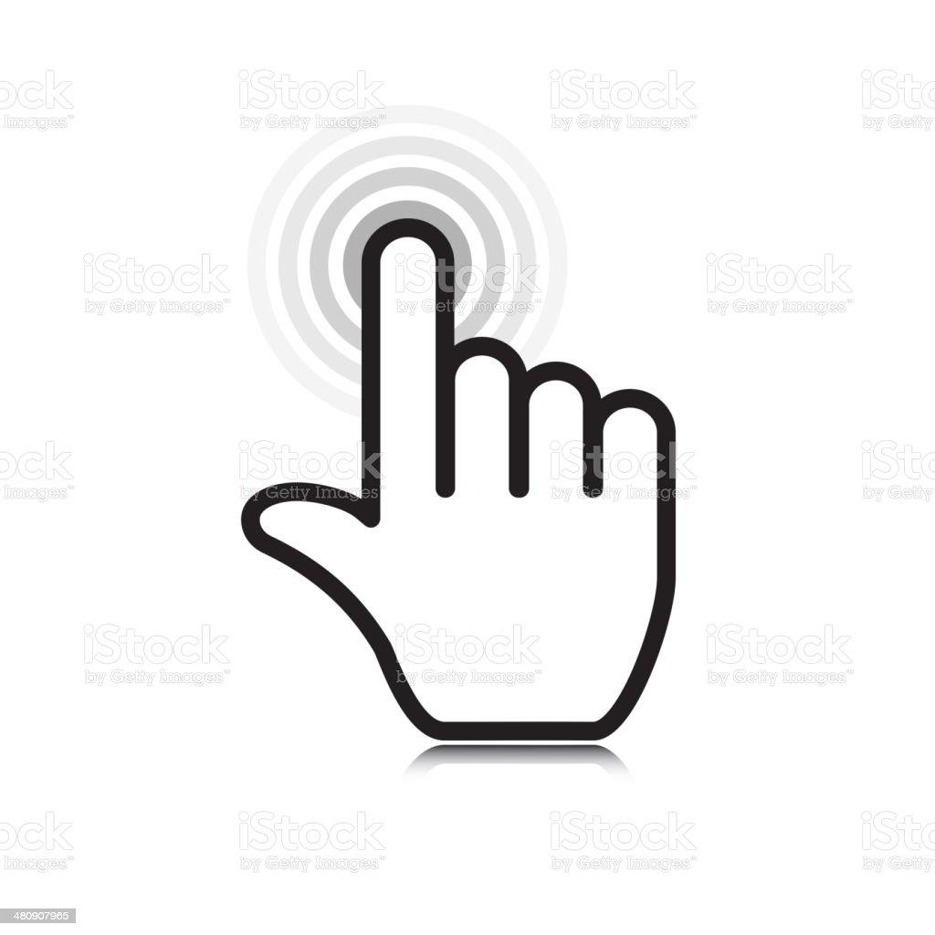 click icon vector art illustration