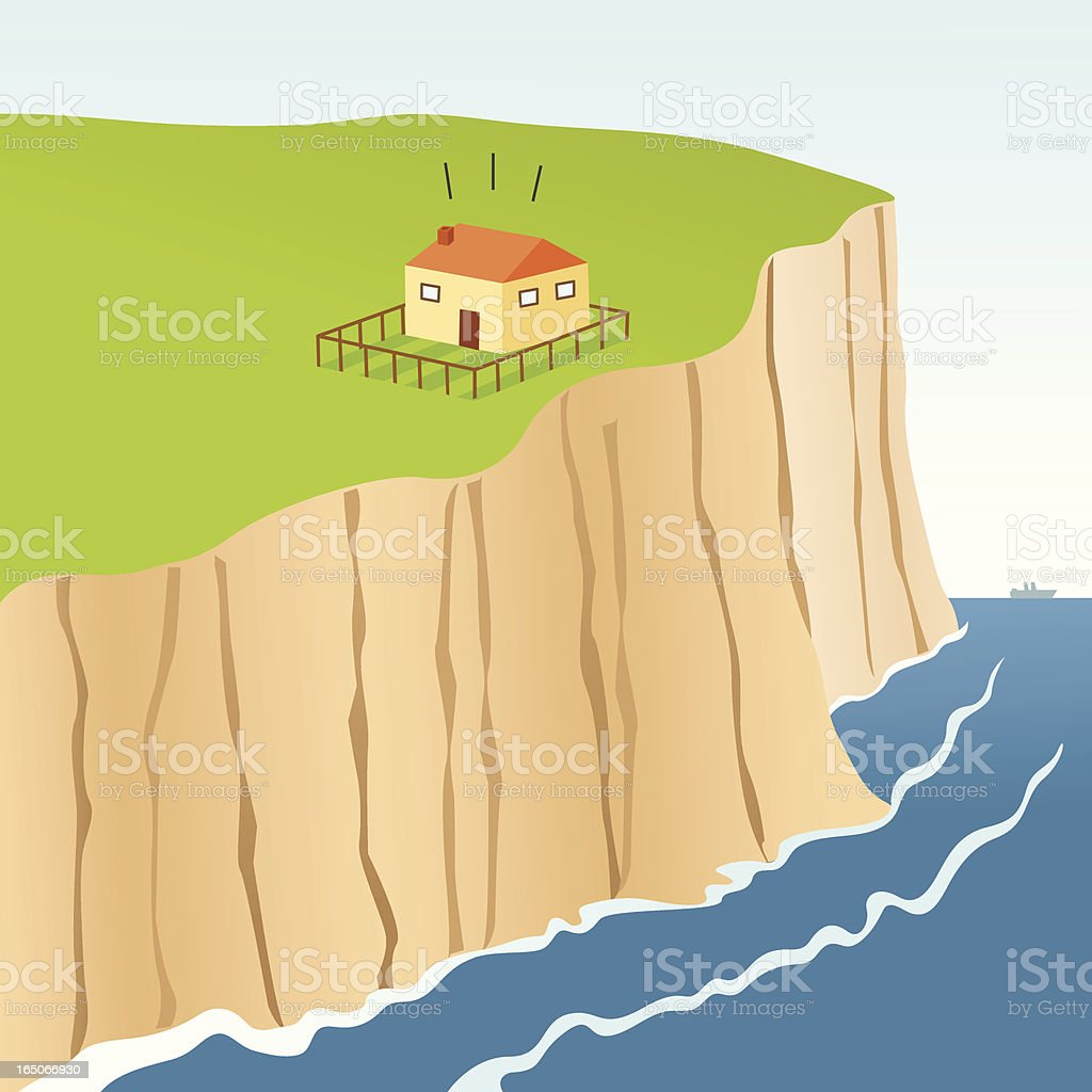 Cliff Edge royalty-free stock vector art