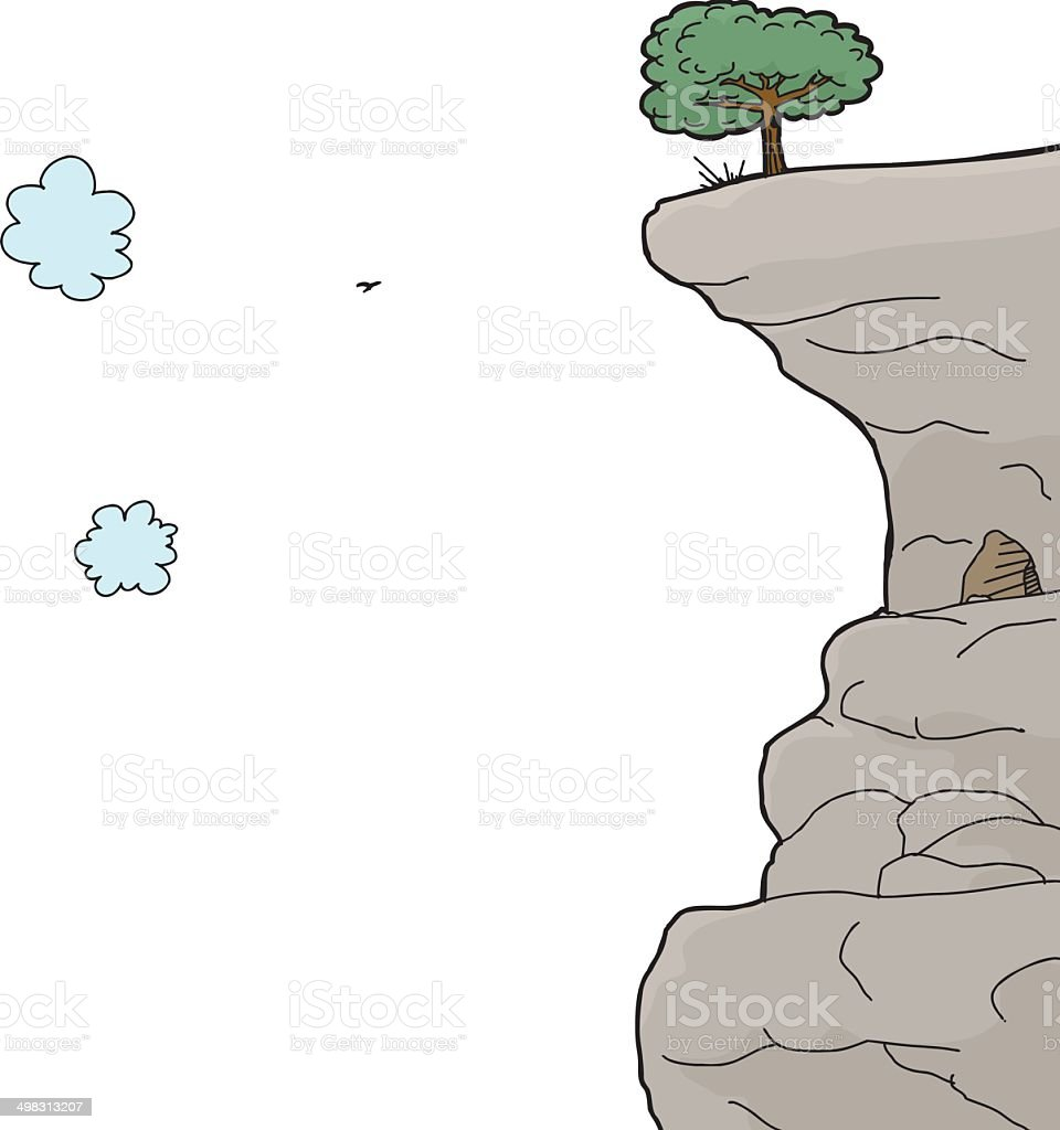 Cliff Over White Background royalty-free stock vector art
