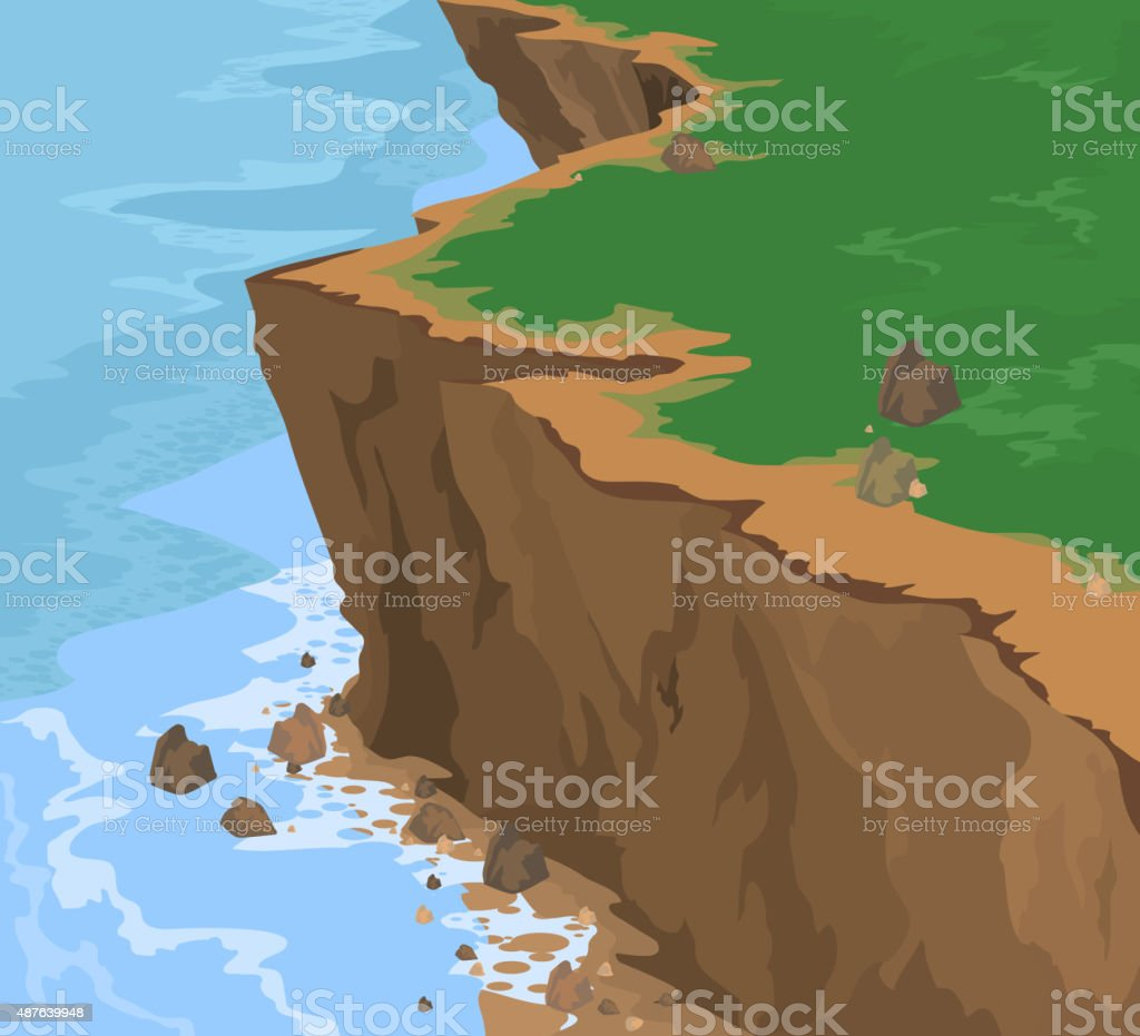 Cliff vector art illustration