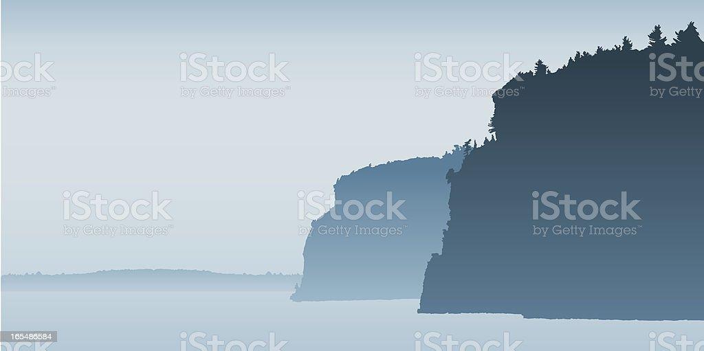 Cliffs vector art illustration