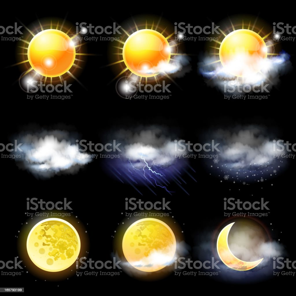 Climate and weather concept royalty-free stock vector art