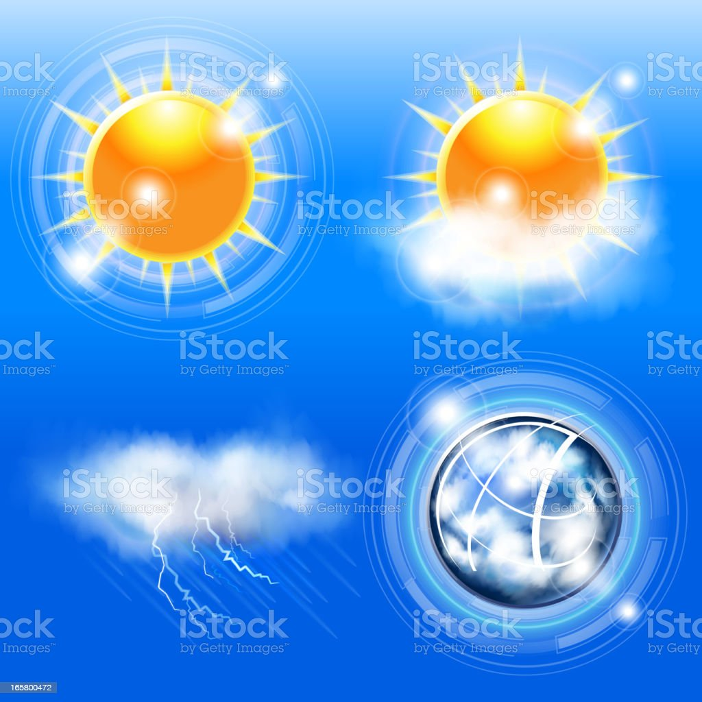 Climate and weather vector art illustration