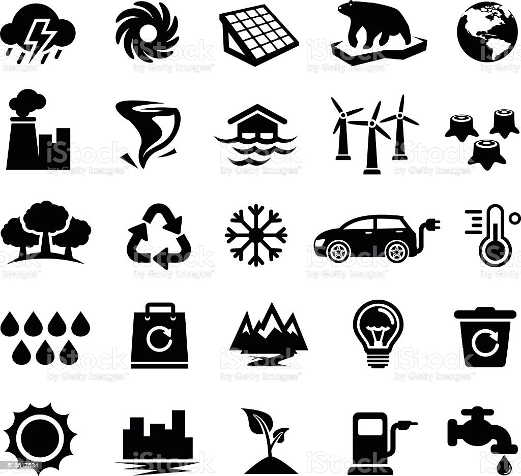 Climate Change, Global Warming, Ecology, Environment vector art illustration