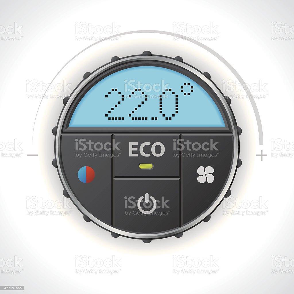 Climatronic gauge design vector art illustration
