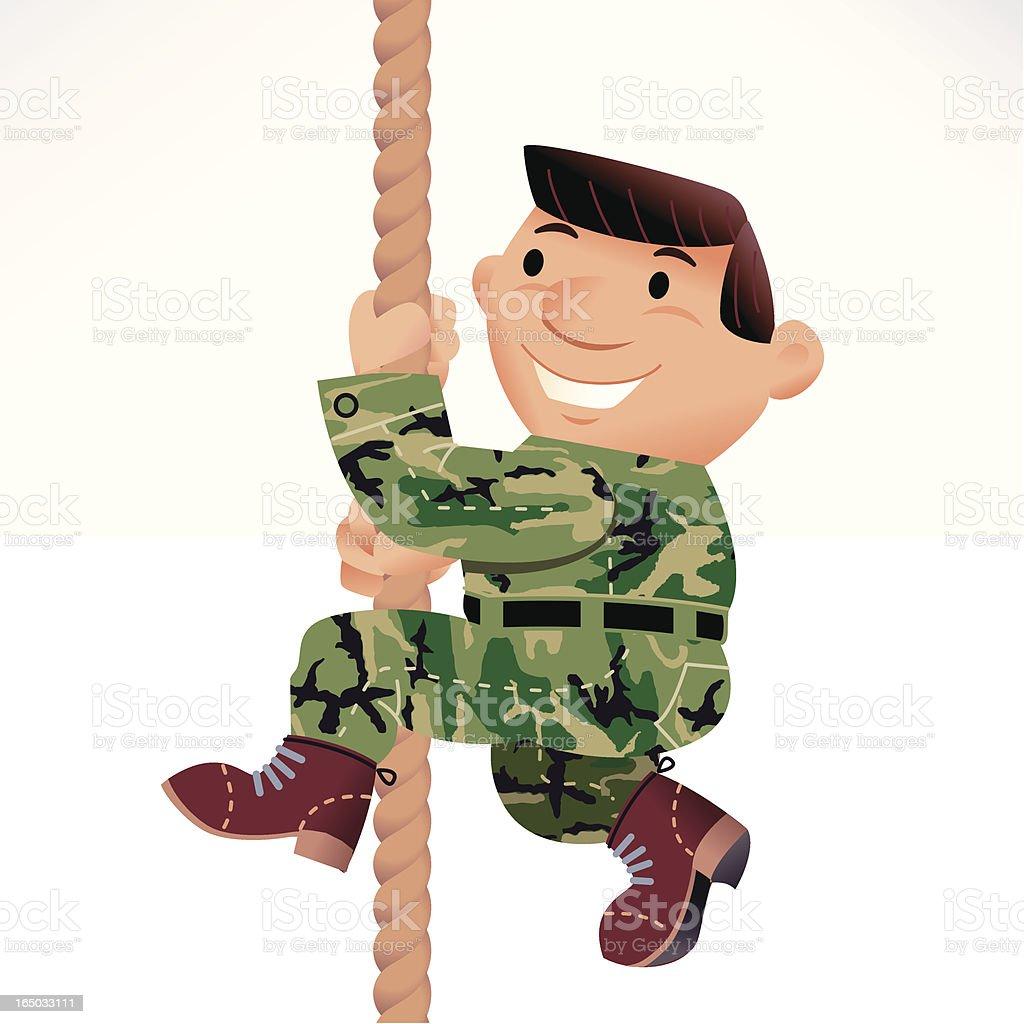 Climb rope vector art illustration
