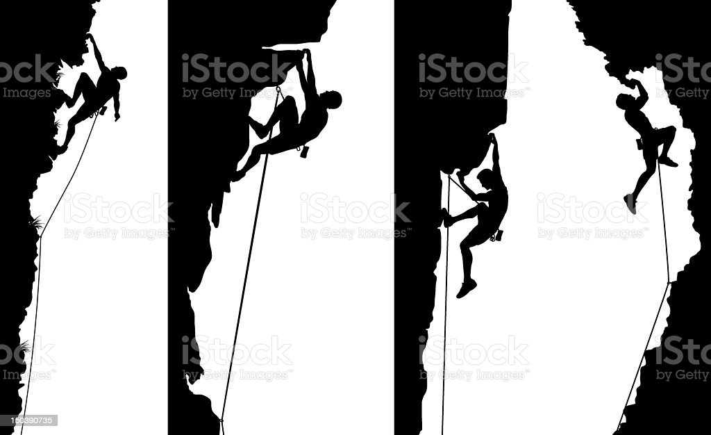 Climber side panels vector art illustration
