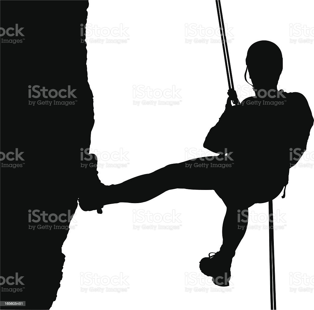 Climber royalty-free stock vector art