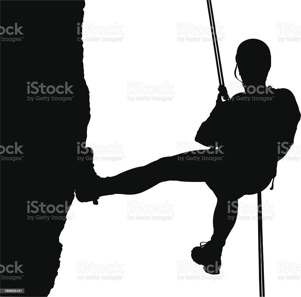 Climber vector art illustration