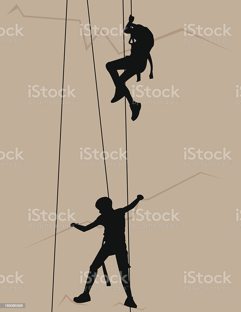 Climbers royalty-free stock vector art