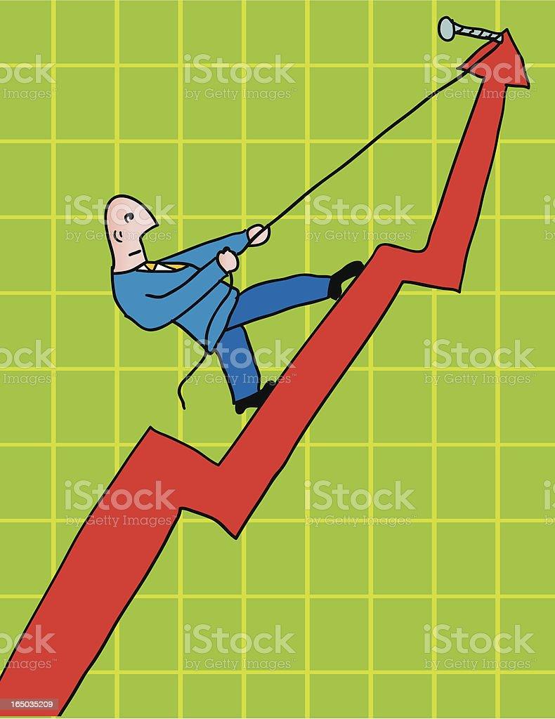 climbing businessman royalty-free stock vector art