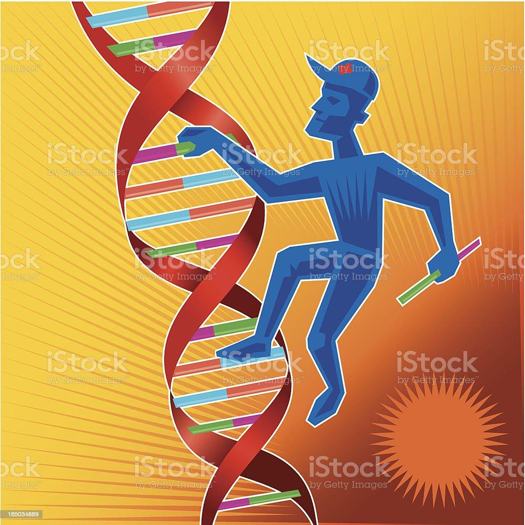 Climbing DNA royalty-free stock vector art