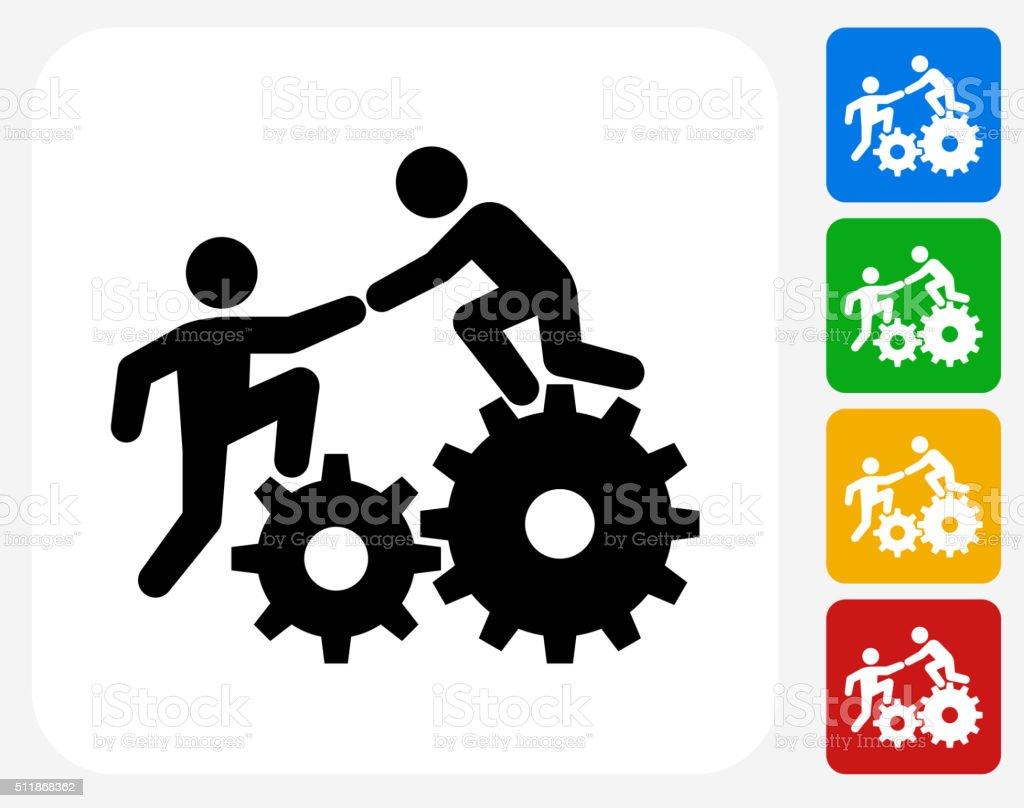 Climbing Gear Icon Flat Graphic Design vector art illustration