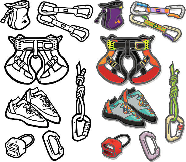 Indoor Rock Climbing Harness Clip Art, Vector Images ...