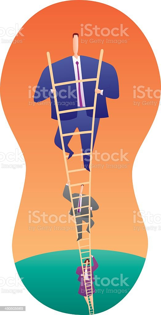climbing ladder of success royalty-free stock vector art