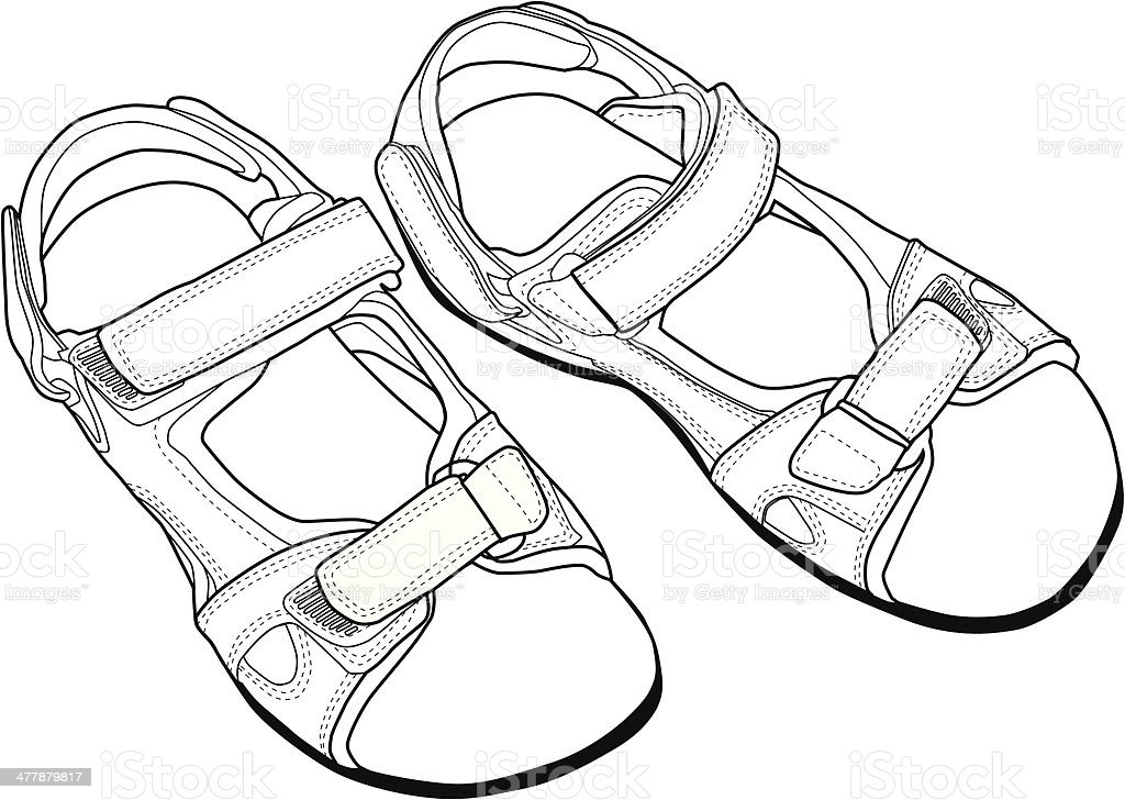 Climbing Sandals. royalty-free stock vector art