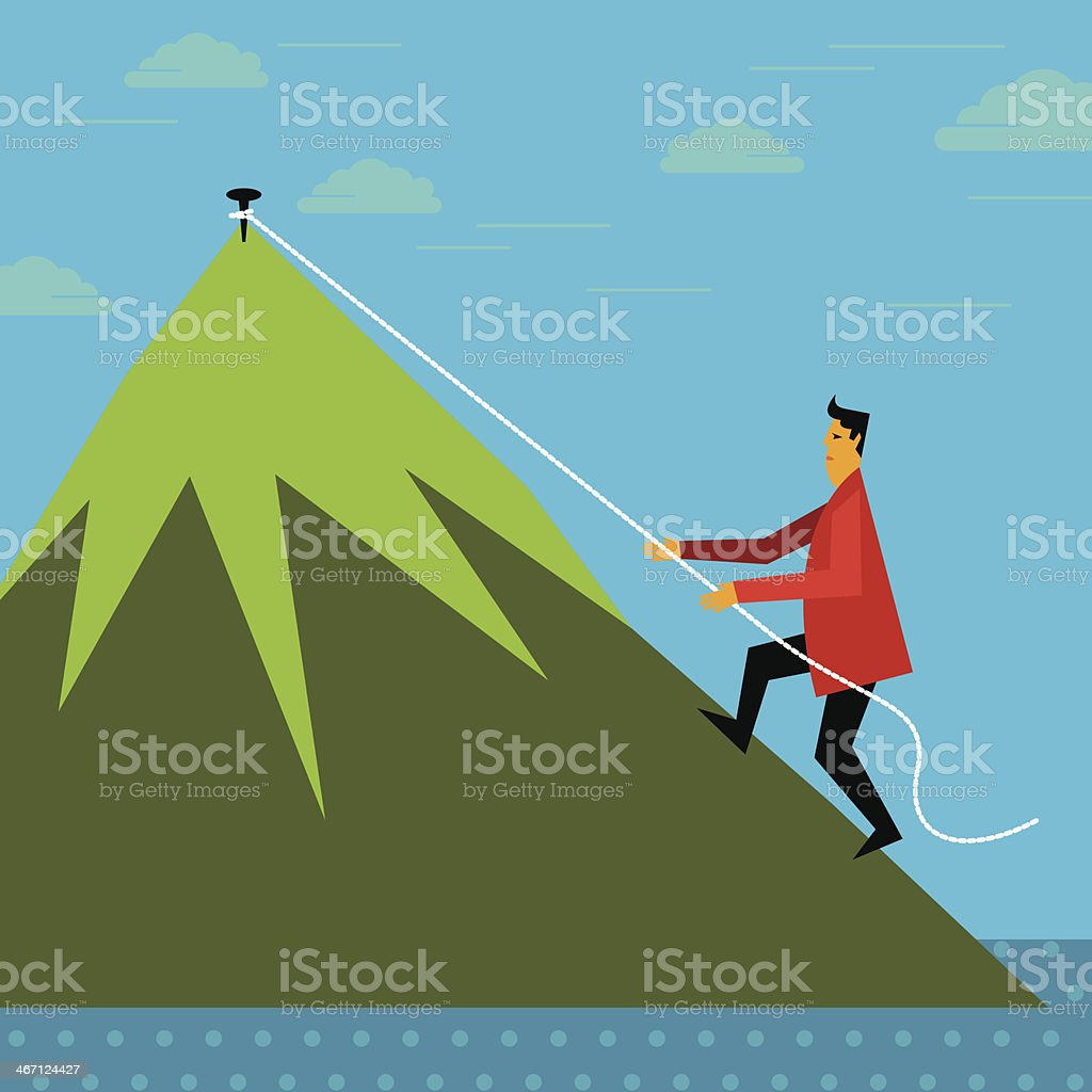 Climbing up - business concept royalty-free stock vector art