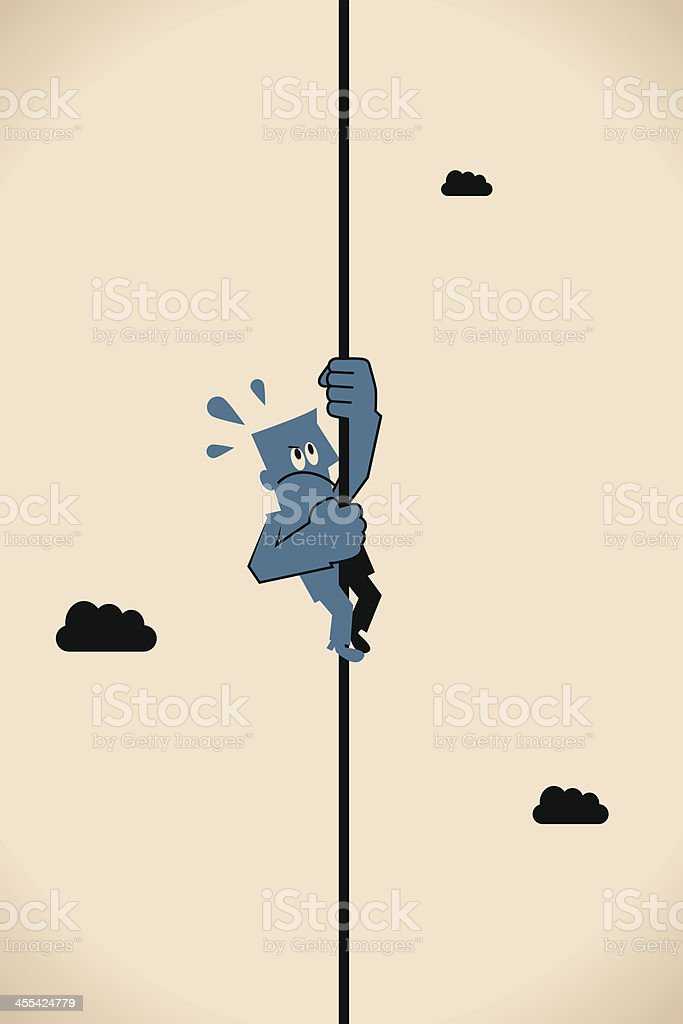 Climbing up to the top royalty-free stock vector art