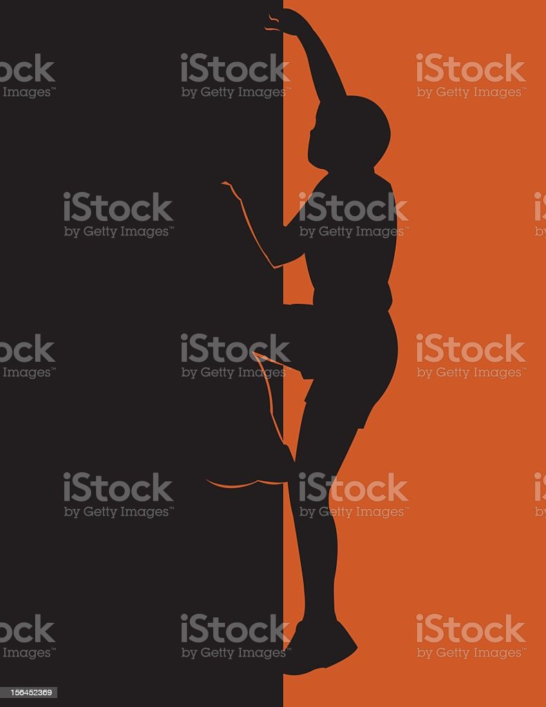Climbing Up royalty-free stock vector art