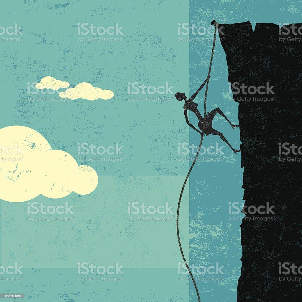 Climbing up vector art illustration