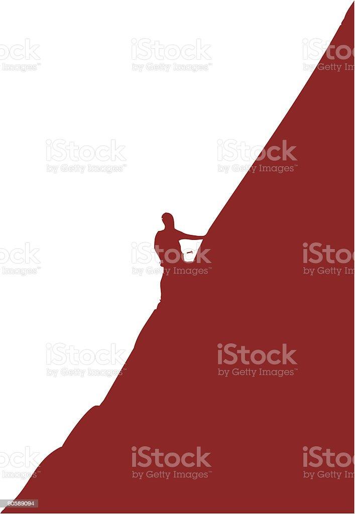 Climbing (vector) royalty-free stock vector art